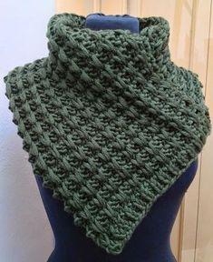 KAL Scaldacollo a punto catenelle - New Ideas Tunisian Crochet, Crochet Stitches, Knit Crochet, Knitting Patterns, Crochet Patterns, Cowl Scarf, Knitted Shawls, Baby Knitting, Knitwear
