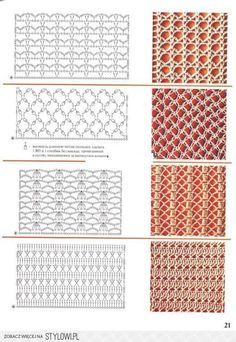 Crochet Patterns 40 Free Crochet Stitches from Daisy Farm Crafts Filet Crochet, Crochet Stitches Chart, Crochet Motifs, Crochet Diagram, Irish Crochet, Knitting Stitches, Crochet Lace, Knitting Patterns, Crochet Patterns