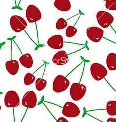 Seamless pattern with cherry on the white on VectorStock