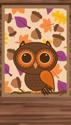 cute owl fall themed wallpapers - photo #11