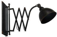 Бра из металла с плафоном, цвет коричневый с патиной  Длина от стены 40-80 см  Патрон E27, мощность max 1 х 60W Высота 40 см Диаметр 19 см