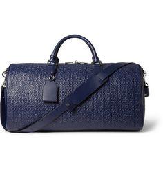 LoeweEmbossed Leather Duffle Bag