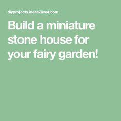 Make a miniature stone fairy house – DIY projects for everyone! Diy House Projects, Mini Things, Stone Houses, Fairy Houses, Miniatures, Fairy Gardens, Crafts, Spa, Gardening