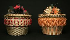 Two baskets by Molly Neptune Parker, Passamaquoddy Basketmaker and 2012 NEA National Heritage Fellow.