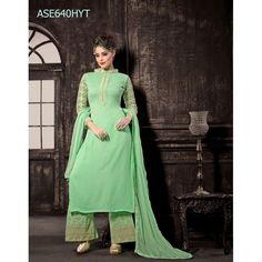 Eid Special Designer Sea Green Georgette Palazzo Style Salwaar Suit-ASE640HYT ( ARTI-522 )Karishma