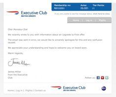 British Airways error that doesn't impress... CRM gone wrong.