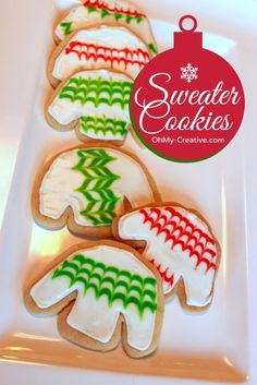 Ugly Christmas Sweater Party Cookies     OhMy-Creative.com
