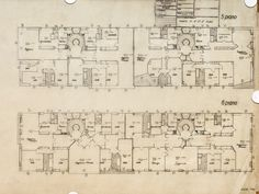 housing - 5th floor / 6th floor -  Via Ippolito Nievo 28/A - Milano - Luigi Caccia Dominioni - 1957 Line Drawing, Modern, Floor Plans, How To Plan, Architecture, Contemporary Architecture, Buildings, Home Ideas, Italy