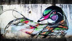graffiti birds street art 03 Streetart: Graffiti Birds by Bird Street Art, Street Art Graffiti, Yarn Bombing, Amazing Street Art, Amazing Art, Luis Martins, Zentangle, Beautiful Graffiti, Urbane Kunst