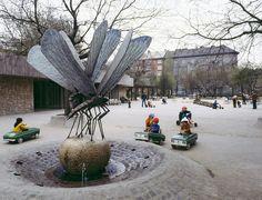 1979. Vérmező, Szitakötő szobor (Kiss István szobra)