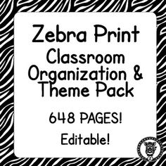 On Sale for $5! Looking for some options for your classroom, so you can pick and choose what you want? This megapack /bundle contains 709 pages of printables for you to use, decorate and organize your classroom! Even if you don't have a themed classroom there are some great materials for you to use in your classroom. This is themed with a black and white pattern. Check out the preview file for better images!
