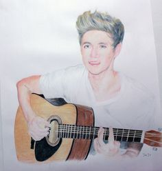 one direction - drawing of mister niall horan. One Direction Drawings, One Direction Art, Celebrity Drawings, Beautiful Drawings, Niall Horan, Amazing Things, Kid Stuff, Artwork, Identity