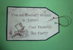 Mad Hatter's Party invite