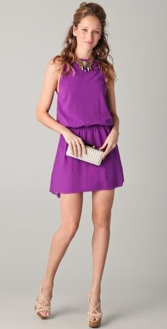 LOVE this dress! I have one of their dresses in this color & fabric from a few months ago. Now I love this dress. Argh!