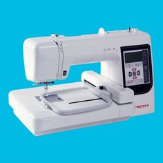 "The EC100 is an easy, affordable embroidery-only machine. Comes with 73 built-in designs. Import new designs via the USB port. The touch screen features basic editing functions like elarge/reduce, rotate, and turnover. Stitch embroidery designs up to 5"" x 5"" at 650 spm. #necchi #sewing #machine"
