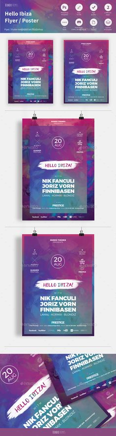 Hello Ibiza Club Flyer - Concerts Events