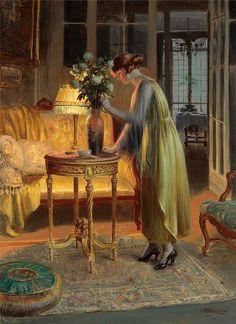 Delphin Enjolras (French, 1857-1945) - Arranging Flowers