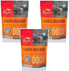 Orijen Alberta Wild Boar Singles Freezedried Dog Treats 35oz Bag Pack of 3 *** Be sure to check out this awesome product. (This is an affiliate link) #dogtreats