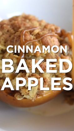These cinnamon baked apples are easy enough for tonight, but double as the perfect dessert for friends and family (or the holidays). These just might beat apple pie! Easy Baked Cinnamon Apples Inspired Taste inspiredtaste Inspired Taste recipes The Easy Baked Apples, Baked Cinnamon Apples, Cinnamon Desserts, Apple Cinnamon Pie, Dessert Simple, Healthy Dessert Recipes, Easy Desserts, Autumn Food Recipes, Autumn Desserts
