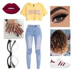 """Untitled #41"" by royal-cookie on Polyvore featuring adidas and Lime Crime"