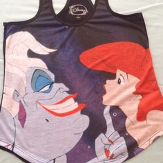 Disney Ursula and Ariel Tank Purchased to wear on a Disney cruise with my boys. Bought 2 sizes wore the other.  NO TRADES / LOW BALL OFFERS disney Tops Tank Tops