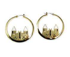 Disney Couture Icon Magic Castle Hoop Earrings
