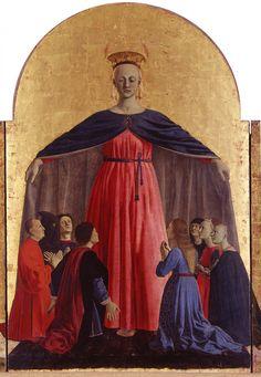 """Piero della Francesca (1416/1417 circa-1492) - """"Polittico della Misericordia"""": La Crocifissione - tecnica mista su tavola - 1445-1462 - Pinacoteca Comunale di Sansepolcro"""
