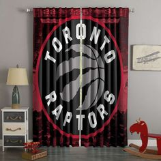 3D Printed Toronto Raptors Style Custom Living Room Curtains – Westbedding