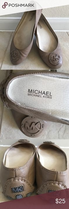 """MICHAEL CORS Ballet Flats ©™ Pre-owned """"MICHAEL KORS Ballet Flats"""". In very good condition. Size: 8M. Color: Beige KORS Michael Kors Shoes Flats & Loafers"""