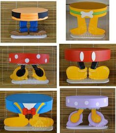 Disney Party ideas Cake platters