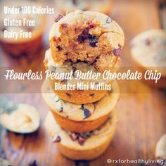 under 100 calories peanut butter chocolate chip mini muffins