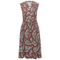 M&Co Printed Linen Shirt Dress ($39) ❤ liked on Polyvore featuring dresses, navy, t-shirt dresses, linen dresses, navy dress, a line midi dress and a line shirt dress