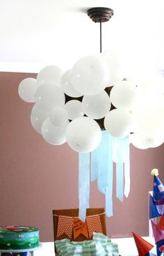 1000 images about peppa pig party on pinterest peppa for Balloon cloud decoration