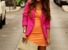 love pink and orange
