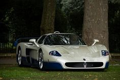 Maserati MC12 - This 620 hp V12 accelerates from 0-60 in 3.7 secs.  Between 2004-2005 only 55 were produced of which 50 were pre-sold for 600,000 euros to customers.
