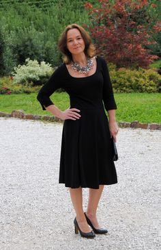 Black dress mature