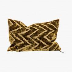 Coussin Vice Versa Cushion, Ocre - MAISON DE VACANCES Bon Marché Rive Gauche, Vice Versa, Pillow Talk, Textiles, Throw Pillows, Inspiration Design, Decoration, Accessories, Linens