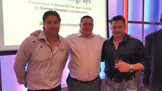 Here's a photo of Kim Little from Australia, myself (Bill Thomson) in the middle, and the former US Marine Internet Marketing Rockstar, Frank Calabro Jr, We met whilst in London for the MyAdvertisingPays 18 Month Celebratory event!