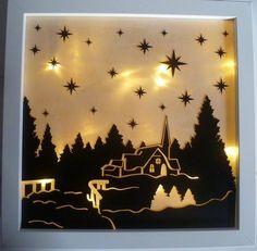 Papierkorb/Inspirationen aus der Heide: Beleuchteter Bilderrahmen Butterbrotpapier, Ribba Rahmen LED Lichterkette