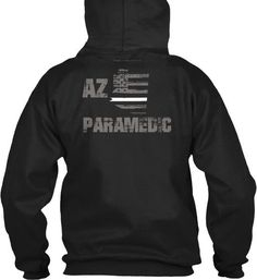 Arizona Paramedic Thin White Line Hoodie  Wear your AZ Paramedic and EMS pride and show your support for the Arizona Thin White Line.  - Official Thin Line Style Apparel, printed in The USA - 50% Cotton, 50% Polyester - Double-needle stitching for durability, double-lined hood, pill-resistant air jet yarn - Machine Wash Warm, Tumble Dry Low. Do not bleach.