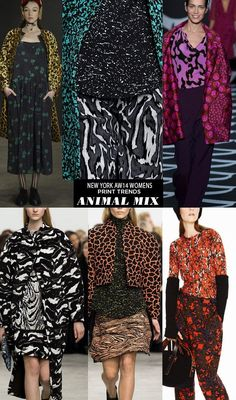 pattern people AW14 Womens Print Trends NY ANIMAL1 Runway | AW14 Womens New York Print Stories