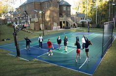 Half Courts Backyards Basketball Court | sport court brand outdoor basketball courts create a safe and healthy ...