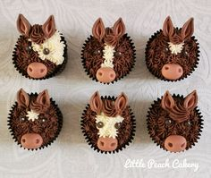 Horse / Pony Cupcakes – Little Peach Cakery Horse Birthday Parties, Cowboy Birthday, Animal Cupcakes, Cupcake Cookies, Horse Cupcake, Little Peach, Horse Party, Pony Party, Birthday Cupcakes