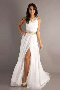 Prom Dresses | Front Split Beading White 2013 Prom Dresses on sale on OnlinePromDress ...