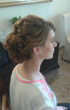 weddings in Rome, Italy  wavy updo by Janita Helova http://www.hairmakeupnails-rome.com/