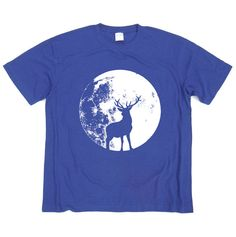 Deer in the Shadow of Moon Tshirt  screen printed by GreenlakeTee, $15.00