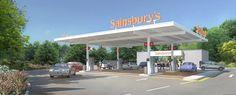 Sainsbury's Ledbury petrol station artists impression