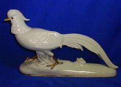 Vintage German H. Scherzer Basvaria Porcelain Pheasant Figure #^