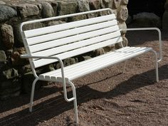 Steel Bench with back TUBEN | Bench by Nola Industrier