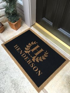 Asian personalized door mat